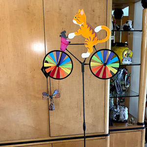 "20"" Kitty Bike Spinner Garden Decoration NIB"